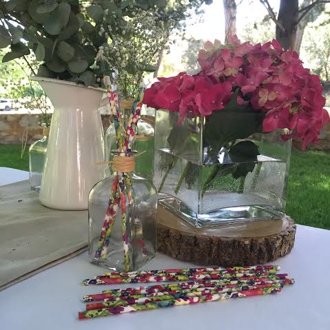 Oui Oui-pajitas de flores-fiesta aire libre-finca cutamilla
